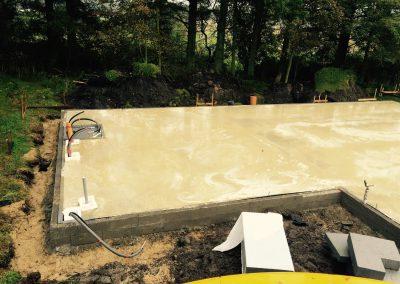 arbejde med beton